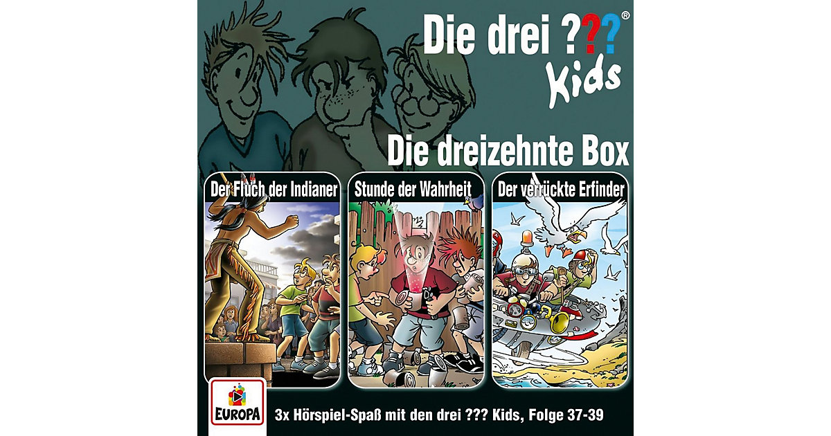 Sony · CD Die drei ??? Kids 13 - 3er Box (Folgen 37,38,39)
