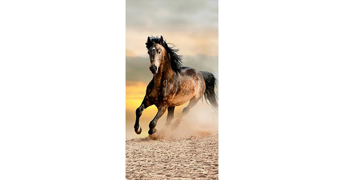 Strand- / Badetuch Pferd, 75 x 100 cm Gr. 75 x 150