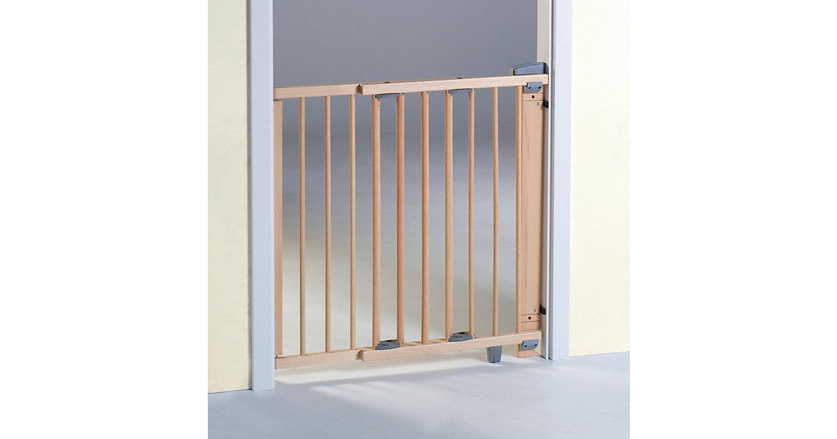 Geuther · Türschutzgitter schwenkbar, Buche massiv, natur lackiert, 65 - 105 cm
