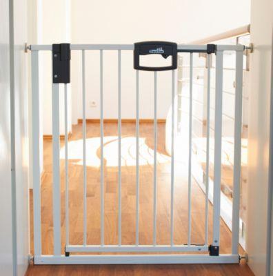 Türgitter weiß 60-97 cm Roba Metall Schutzgitter Höhe 73 cm Treppengitter