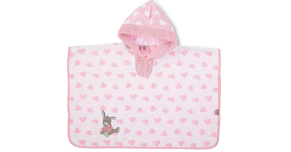 Badeponcho Emmi Girl, Frottee, rosa/weiß, 50 x 70 cm Mädchen Kleinkinder