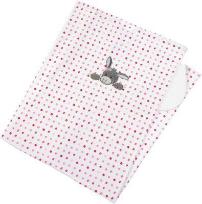 Babykuscheldecke mit Namen Jersey Decke Babydecke rosa Schmusedecke Mädchen