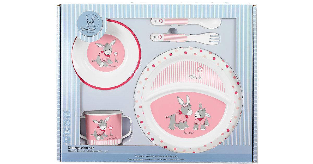 Sterntaler · Kindergeschirr Emmi Girl, 5-tlg. Set, rosa/pink