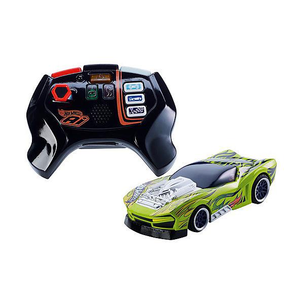 """Радиоуправляемая машинка Hot Wheels """"Умная трасса"""", зеленая"""