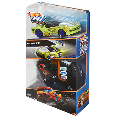 """Радиоуправляемая машинка Hot Wheels """"Умная трасса"""", зеленая от Mattel"""