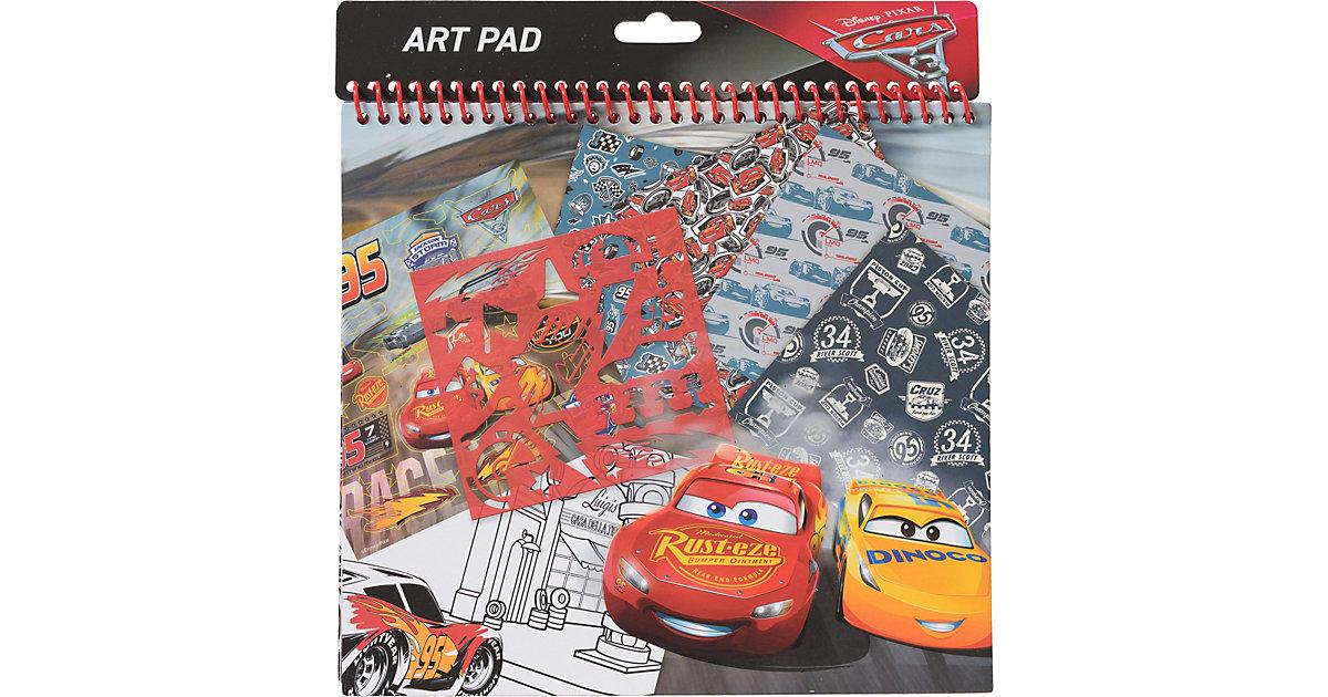 Schablonenset Art Pad Cars 3 rot