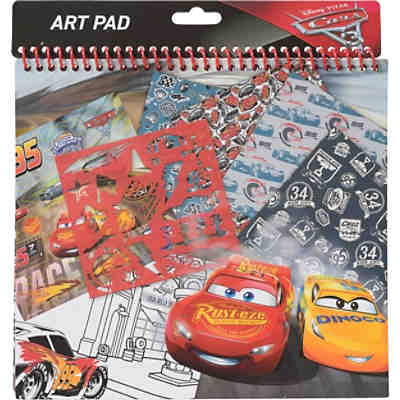 Schablonenset Art Pad Cars 3
