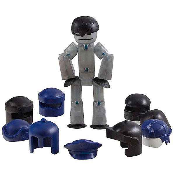 Фигурка с аксессуарами Шлемы, Stikbot, черные