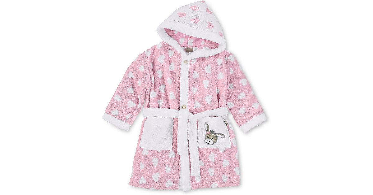 Bademantel Emmi Girl, Frottee, rosa/weiß, Gr. 98/104 Mädchen Kleinkinder