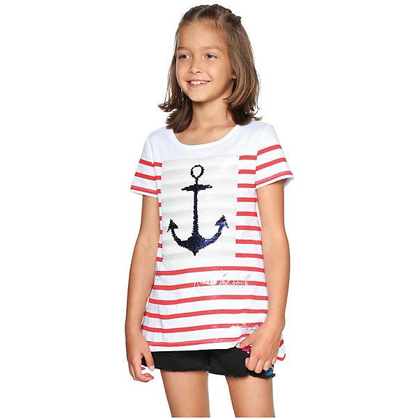Fang verschiedene Arten von exklusives Sortiment T-Shirt mit Wendepailletten für Mädchen, Anker, Desigual ...