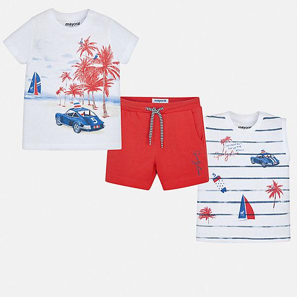 Комплект: 2 футболки и шорты Mayoral для мальчика