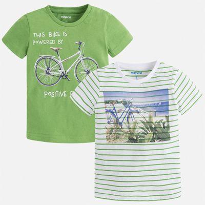 Комплект:2 футболки Mayoral для мальчика - зеленый