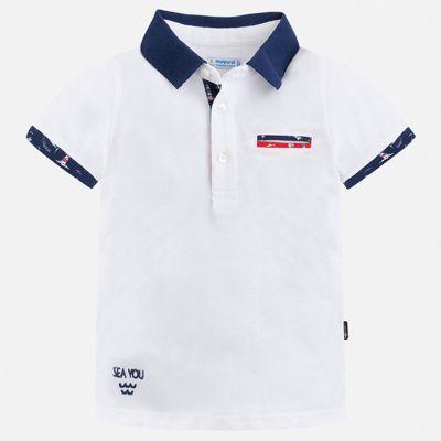 Рубашка-поло Mayoral для мальчика - белый