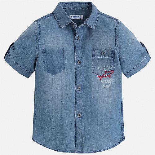 Джинсовая рубашка Mayoral - голубой от Mayoral
