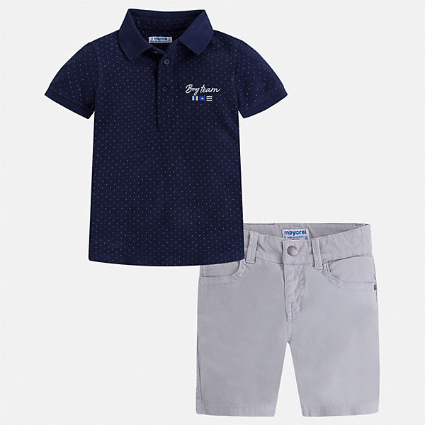 Комплект: футболка-поло и шорты Mayoral для мальчика