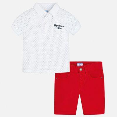 Комплект:шорты,футболка Mayoral для мальчика - белый