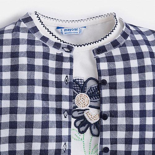 Комплект Mayoral: блузка и кардиган - синий от Mayoral