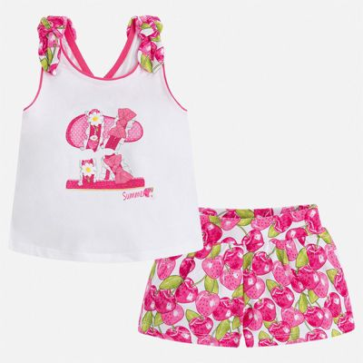 Комплект:шорты,футболка Mayoral для девочки - розовый