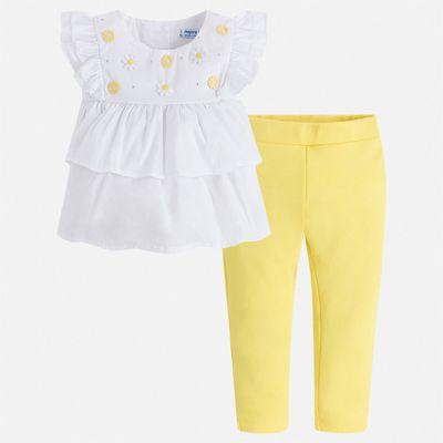 Комплект:брюки,блузка Mayoral для девочки - желтый