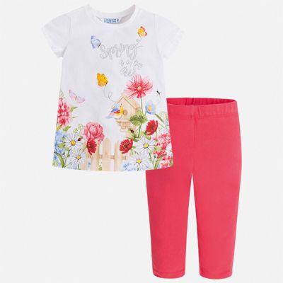 Комплект:леггинсы,блузка Mayoral для девочки - лиловый
