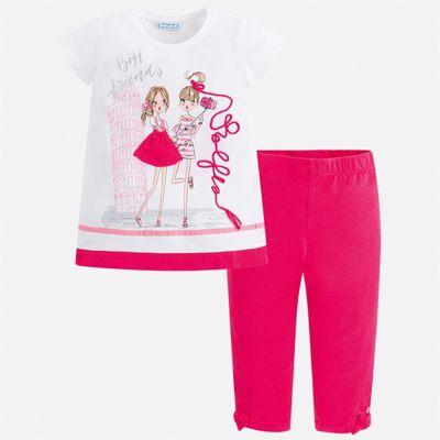 Комплект:леггинсы,блузка Mayoral для девочки - розовый