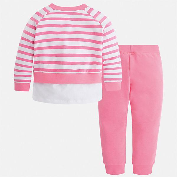 Комплект: толстовка, майка и брюки Mayoral для девочки