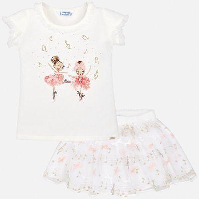 Комплект: юбка Mayoral для девочки - бежевый