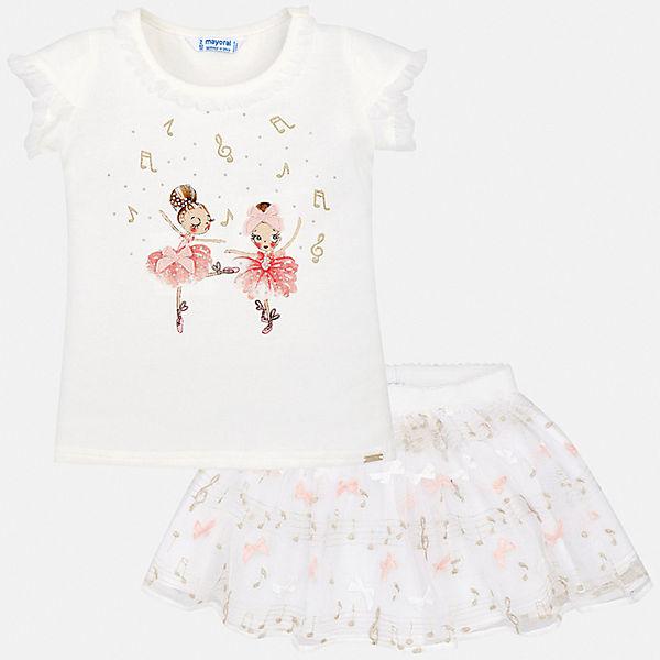 Комплект: футболка и юбка Mayoral для девочки