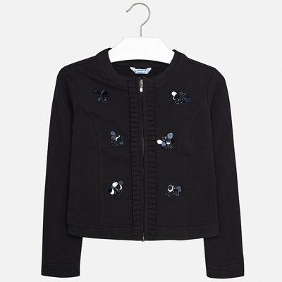 Пиджак Mayoral для девочки - черный