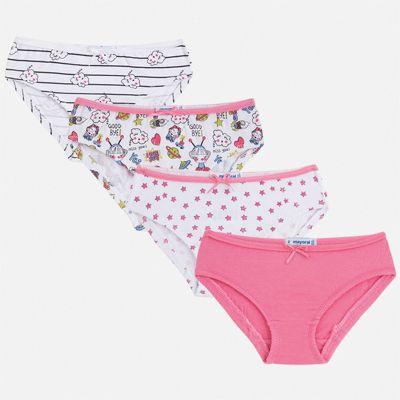 Комплект:4 пары трусов Mayoral для девочки - розовый