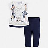 Комплект: футболка и бриджи Mayoral для девочки
