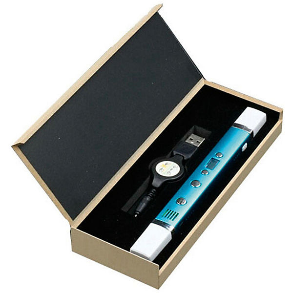 "3D ручка Myriwell-3 ""RP100С"" с дисплеем, голубой металлик"