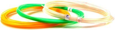 """Набор пластика для 3D ручек Unid """"ABS-F"""" 3 цвета, 10 м каждый (светится в темноте)"""
