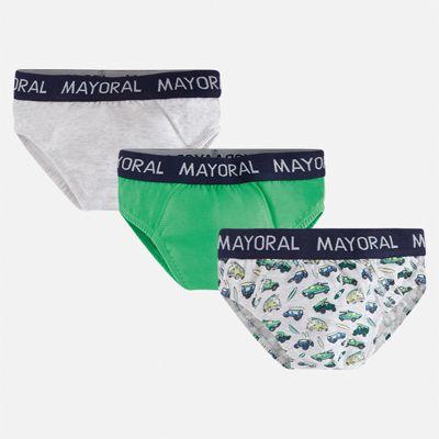 Комплект:3 пары трусов Mayoral для мальчика - зеленый