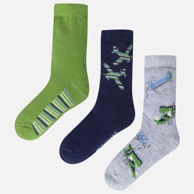Комплект:3 пары носок Mayoral для мальчика - зеленый