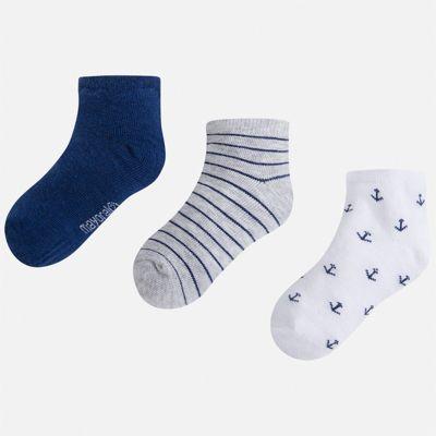 Комплект:3 пары носок Mayoral для мальчика - серый
