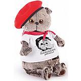 Мягкая игрушка Budi Basa Кот Басик с принтом Плюшевая революция, 25 см