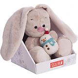 Мягкая игрушка Budi Basa Зайка Ми Budi Basa, со снеговичком, 15 см