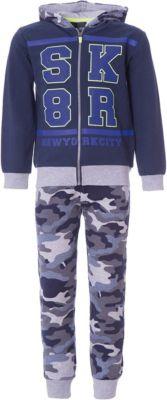 Спортивный костюм iDO для мальчика - сине-серый