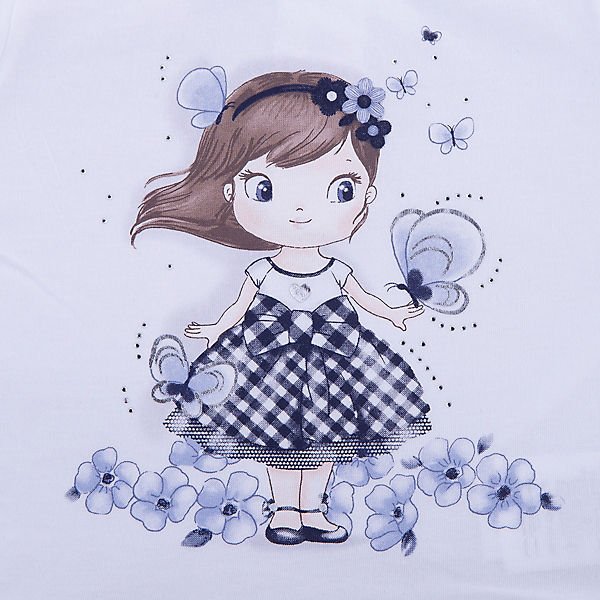 Комплект: футболка с длинным рукавом, леггинсы iDO для девочки