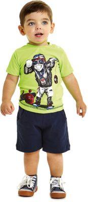 Комплект: футболка, шорты iDO для мальчика - зеленый