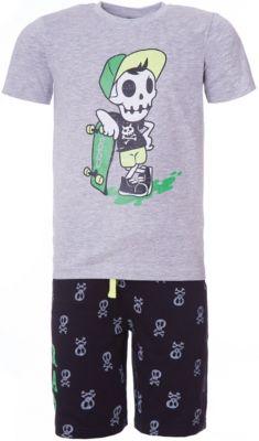 Комплект: футболка, шорты iDO для мальчика - серый