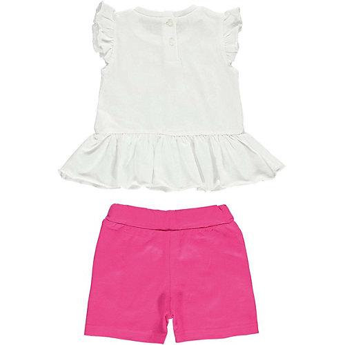 Комплект: футболка, шорты iDO для девочки - белый от iDO