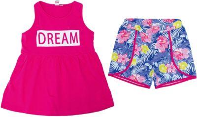Комплект: шорты, майка iDO для девочки - розовый