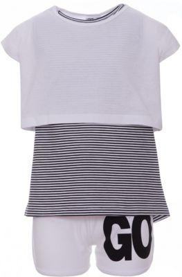 Комплект: шорты, майка iDO для девочки - белый