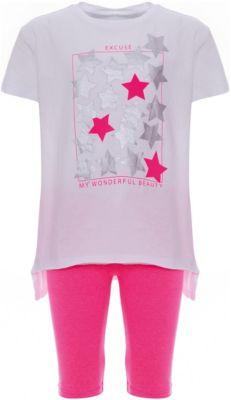 Комплект: футболка, шорты iDO для девочки - белый