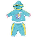 """Одежда для куклы Zapf Creation """"Baby Born"""" Спортивный костюм, голубой"""