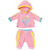 """Одежда для куклы Zapf Creation """"Baby Born"""" Спортивный костюм, розовый"""