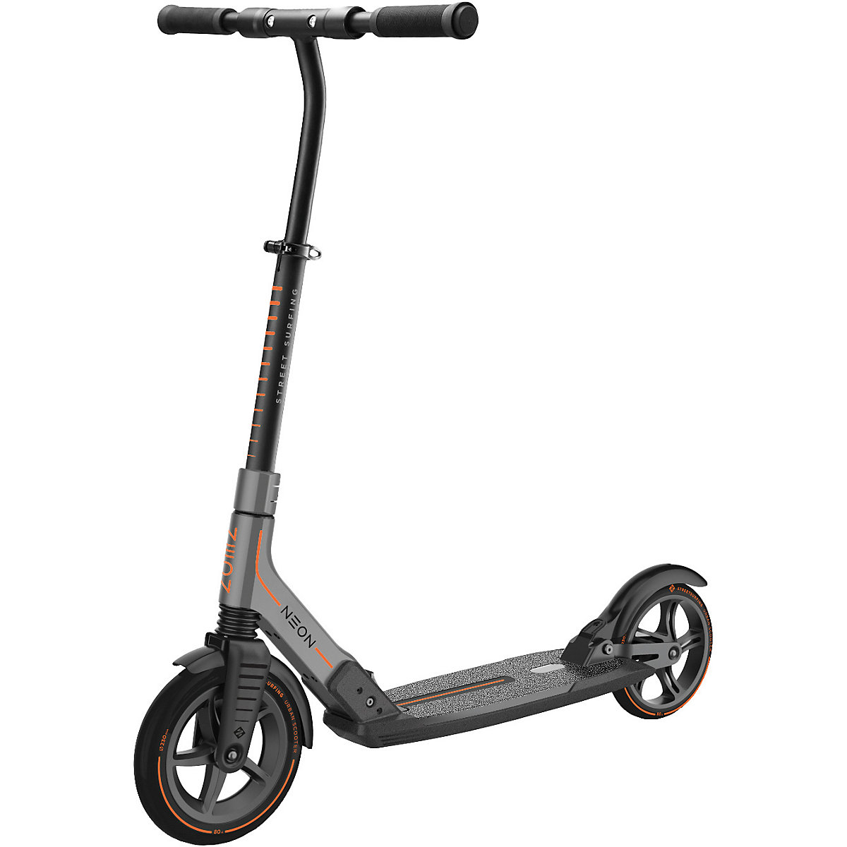 neon scooter grau streetsurfing mytoys. Black Bedroom Furniture Sets. Home Design Ideas