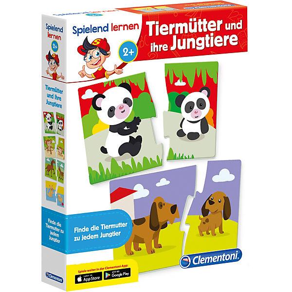 Spielend lernen - Tiermütter und ihre Jungtiere, Clementoni